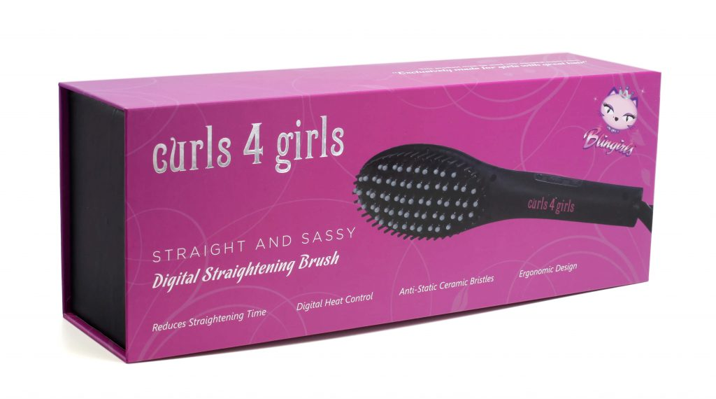 Curls 4 Girls Digital Straightening Brush