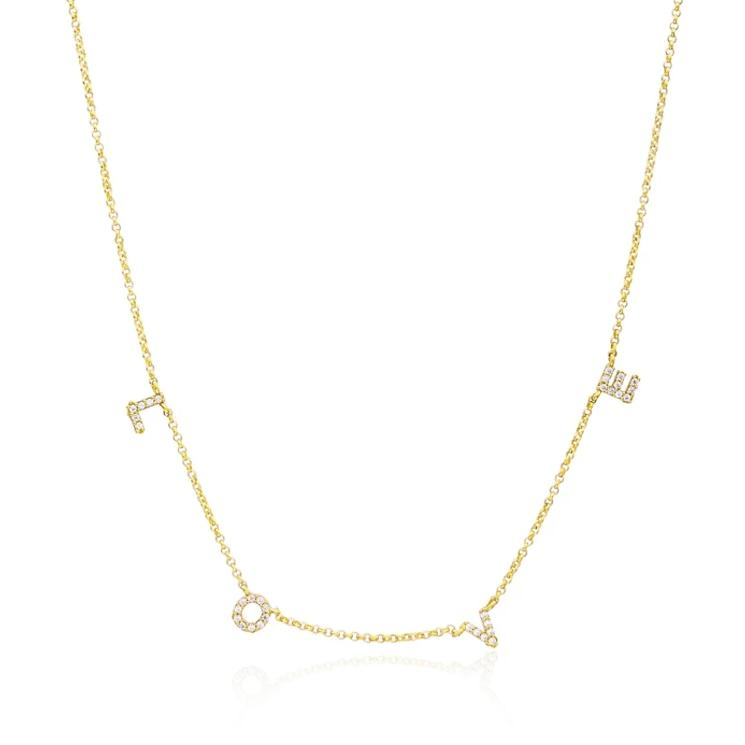 Crystal & Co Love Necklace