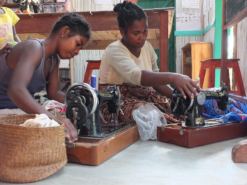 Sewing in Madagascar
