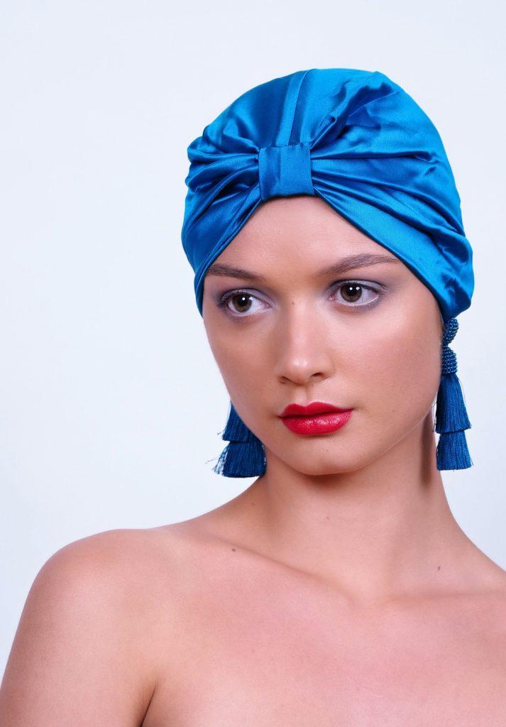 This is silk hair wrap
